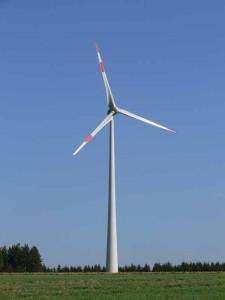 Windkraftanlage in der Oberpfalz
